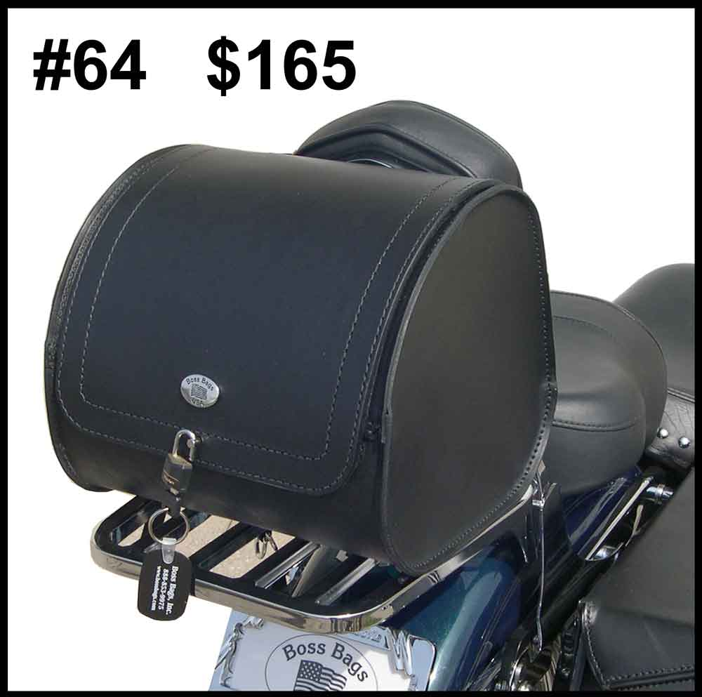 Leather Motorcycle Luggage Rack Bag Lovequilts
