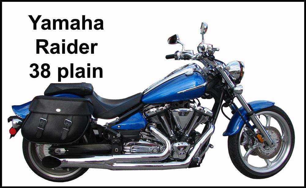 Motorcycle saddlebags for yamaha warrior and raider with for Yamaha raider hard saddlebags